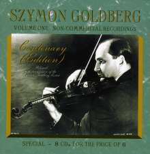 Szymon Goldberg Centenary Edition Vol.1, 8 CDs