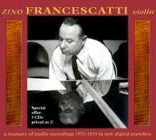 Zino Francescatti spielt Violinkonzerte, 3 CDs