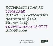 John Cage (1912-1992): Cheap Imitations für Akkordeon, CD