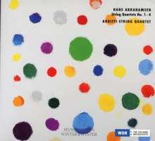Hans Abrahamsen (geb. 1952): Streichquartette Nr.1-4, CD