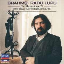 Johannes Brahms (1833-1897): Klavierstücke opp.79,117-119, CD