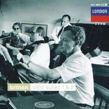 Benjamin Britten (1913-1976): Suiten für Cello solo Nr.1 & 2, CD