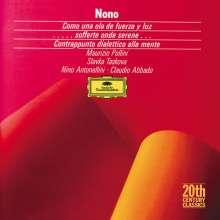 Luigi Nono (1924-1990): Como una ola de fuerza luz, CD