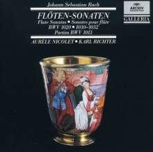Johann Sebastian Bach (1685-1750): Flötensonaten BWV 1013,1020,1030-1032, CD