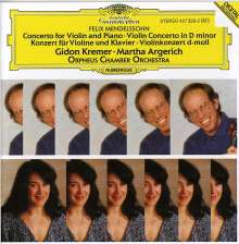 Felix Mendelssohn Bartholdy (1809-1847): Konzert d-moll für Violine, Klavier, Orchester, CD