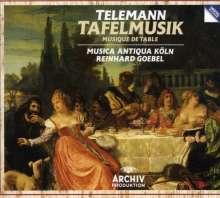 Georg Philipp Telemann (1681-1767): Tafelmusik (Gesamtaufn.), 4 CDs