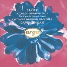 Samuel Barber (1910-1981): Symphonie Nr.1 op.9, CD