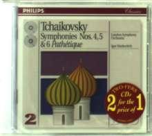 Peter Iljitsch Tschaikowsky (1840-1893): Symphonien Nr.4-6, 2 CDs