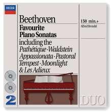 Ludwig van Beethoven (1770-1827): Klaviersonaten Nr.8,14,15,17,21,23,26, 2 CDs