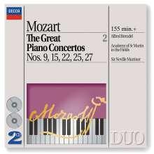 Wolfgang Amadeus Mozart (1756-1791): Klavierkonzerte Nr.9,15,22,25,27, 2 CDs