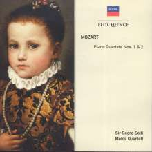 Wolfgang Amadeus Mozart (1756-1791): Klavierquartette Nr.1 & 2, CD
