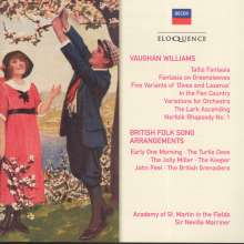 Ralph Vaughan Williams (1872-1958): British Folk Song Arrangements für Orchester, 2 CDs