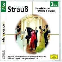 Johann Strauss II (1825-1899): Walzer,Polkas,Ouvertüren, 3 CDs