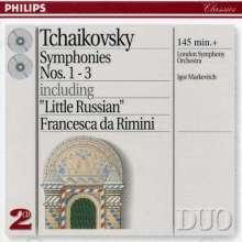 Peter Iljitsch Tschaikowsky (1840-1893): Symphonien Nr.1-3, 2 CDs