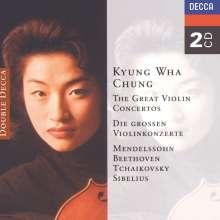 Kyung-Wha Chung spielt Violinkonzerte, 2 CDs