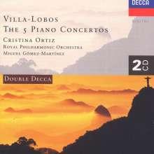 Heitor Villa-Lobos (1887-1959): Klavierkonzerte Nr.1-5, 2 CDs