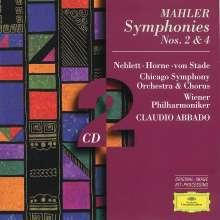 Gustav Mahler (1860-1911): Symphonien Nr.2 & 4, 2 CDs