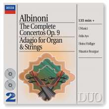 Tomaso Albinoni (1671-1751): Oboenkonzerte op.9 Nr.1-12, 2 CDs