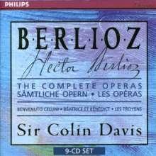 Hector Berlioz (1803-1869): C.Davis dirigiert 3 Opern-Gesamtaufnahmen, 9 CDs