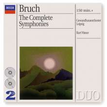Max Bruch (1838-1920): Symphonien Nr.1-3, 2 CDs