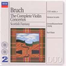 Max Bruch (1838-1920): Violinkonzerte Nr.1-3, 2 CDs