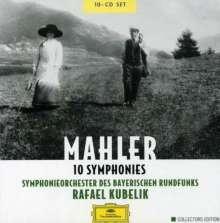 Gustav Mahler (1860-1911): Symphonien Nr.1-10, 10 CDs