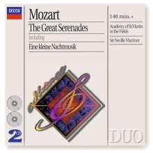 Wolfgang Amadeus Mozart (1756-1791): Serenaden Nr.6,7,9,13, 2 CDs