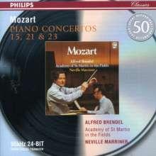 Wolfgang Amadeus Mozart (1756-1791): Klavierkonzerte Nr.15,21,23, CD