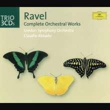 Maurice Ravel (1875-1937): Orchesterwerke, 3 CDs