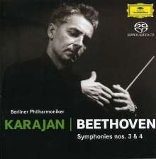 Ludwig van Beethoven (1770-1827): Symphonien Nr.3 & 4, SACD