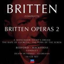 Benjamin Britten (1913-1976): Britten conducts Britten Vol.2 - Operas, 10 CDs