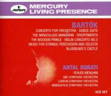 Bela Bartok (1881-1945): Antal Dorati dirigiert Bartok (Mercury Living Presence), 5 CDs