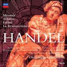 Georg Friedrich Händel (1685-1759): Christopher Hogwood dirigiert 4 Händel-Oratorien, 8 CDs