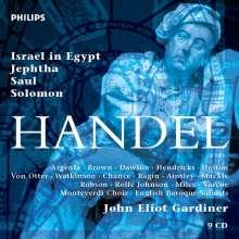 Georg Friedrich Händel (1685-1759): John Eliot Gardiner dirigiert 4 Händel-Oratorien, 9 CDs