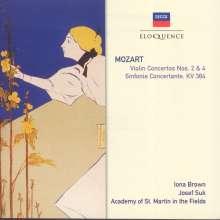 Wolfgang Amadeus Mozart (1756-1791): Violinkonzerte Nr.2 & 4, CD