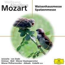 Wolfgang Amadeus Mozart (1756-1791): Messen KV 139 & 220 (Waisenhausmesse & Spatzenmesse), CD