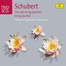 Franz Schubert (1797-1828): Streichquartette Nr.12-15, 3 CDs