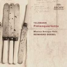 Georg Philipp Telemann (1681-1767): Flötenquartette, CD