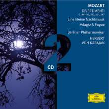Wolfgang Amadeus Mozart (1756-1791): Divertimento KV 136-138,247,251,287, 2 CDs