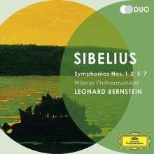 Jean Sibelius (1865-1957): Symphonien Nr.1,2,5,7, 2 CDs