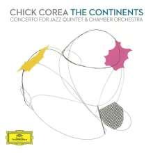 """Chick Corea (geb. 1941): Konzert """"The Continents"""" für Jazzquintett & Kammerorchester, 2 CDs"""