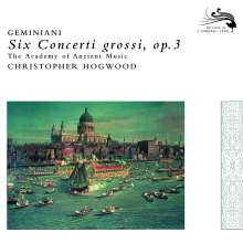 Francesco Geminiani (1687-1762): Concerti grossi op.3 Nr.1-6, CD