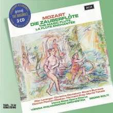 Wolfgang Amadeus Mozart (1756-1791): Die Zauberflöte, 3 CDs