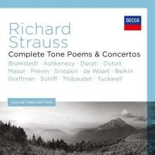 Richard Strauss (1864-1949): Sämtliche Tondichtungen und Konzerte, 13 CDs