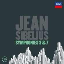 Jean Sibelius (1865-1957): Symphonien Nr.3 & 7, CD