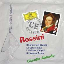 Gioacchino Rossini (1792-1868): Claudio Abbado dirigiert 4 Komische Opern, 9 CDs