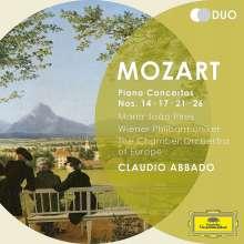 Wolfgang Amadeus Mozart (1756-1791): Klavierkonzerte Nr.14,17,21,26, 2 CDs