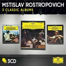 Mstislav Rostropovich - 3 Album Classics, 3 CDs