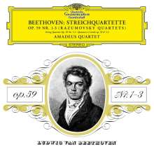 Ludwig van Beethoven (1770-1827): Streichquartette Nr.7-9 (op.59 Nr.1-3) (180g), 2 LPs