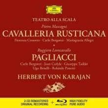 Ruggero Leoncavallo (1857-1919): Pagliacci (Deluxe-Ausgabe mit Blu-ray Audio), 3 CDs